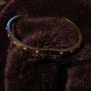 Kate Spade hinged closed gold bracelet